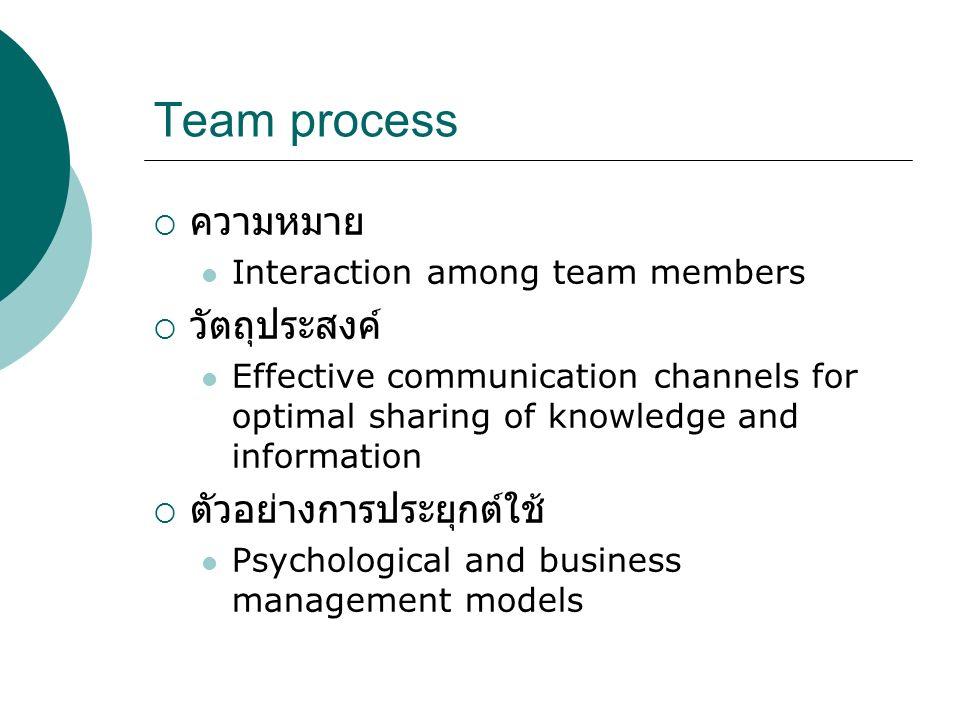 SE Taxonomy of Team Process  Teamwork Transition phase Action phase Inter-person phase  Taskwork Work phase