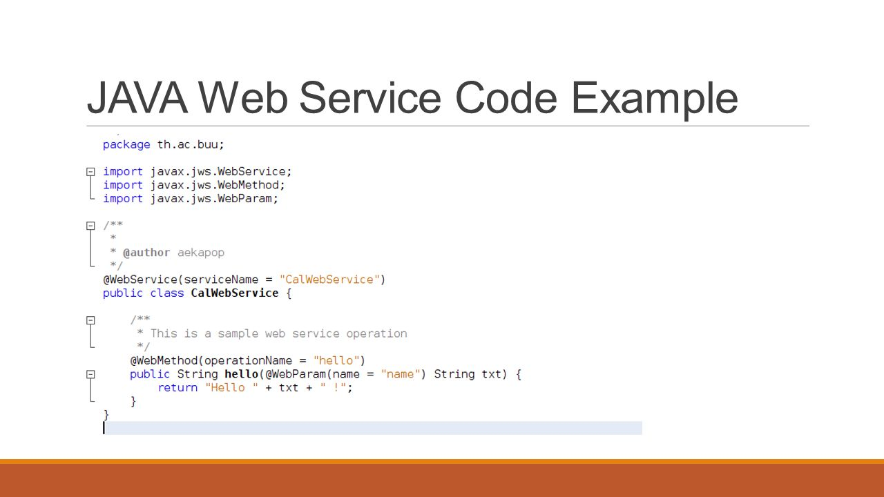 JAVA Web Service Code Example