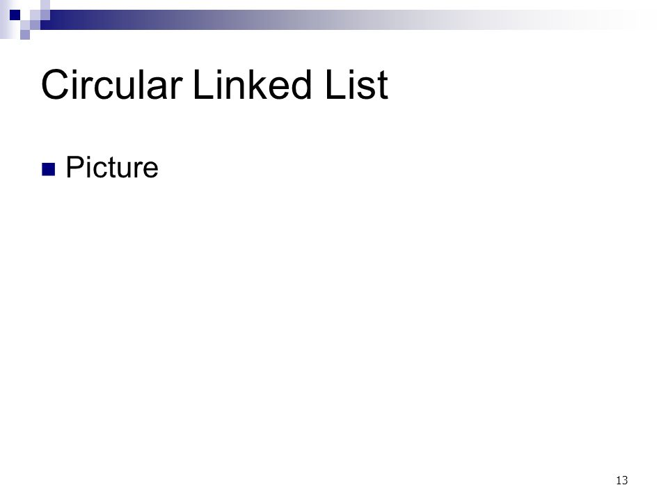 13 Circular Linked List Picture