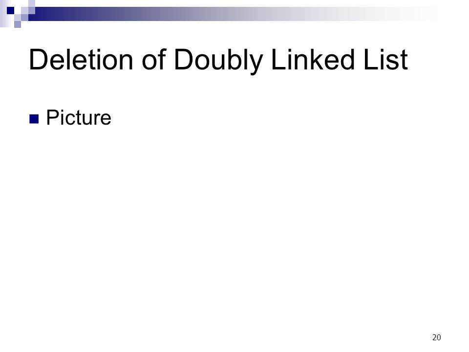 20 Deletion of Doubly Linked List Picture
