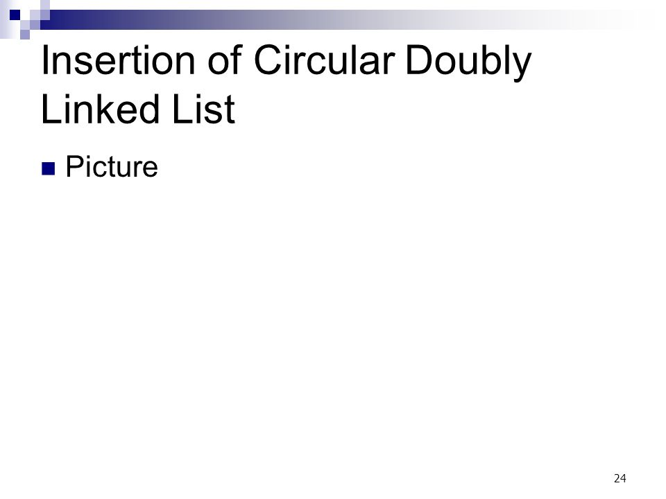 24 Insertion of Circular Doubly Linked List Picture