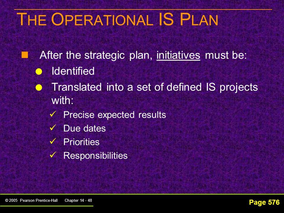 © 2005 Pearson Prentice-Hall Chapter 14 - 47 แผนปฏิบัติราชการ 4 ปี ( พ. ศ. 2555 - 2558) กระทรวงเทคโนโลยีสารสนเทศและการ สื่อสาร