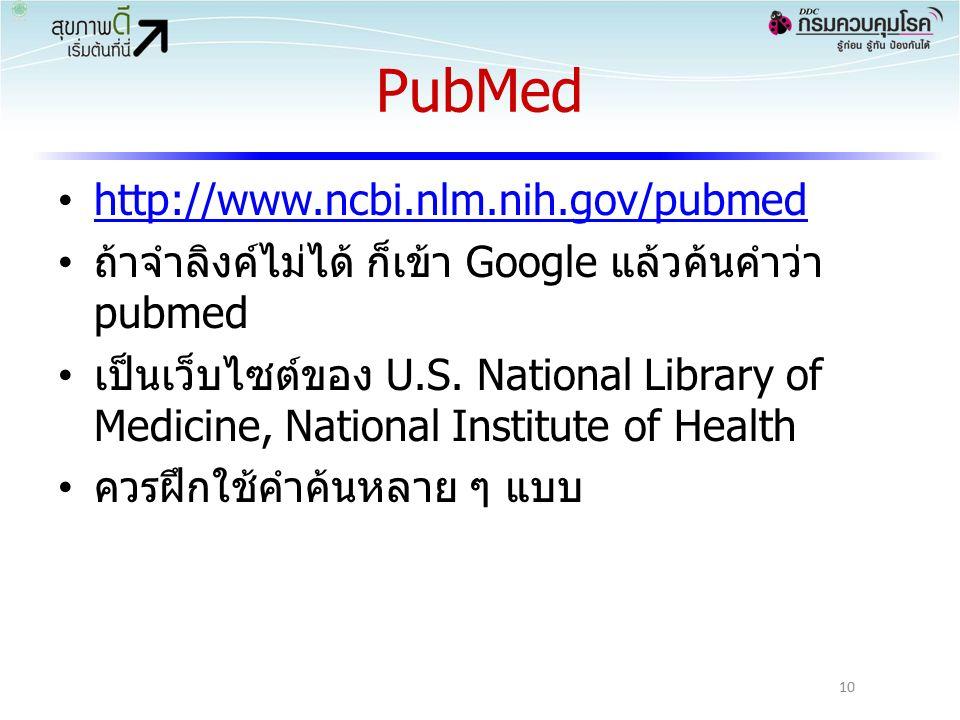 PubMed http://www.ncbi.nlm.nih.gov/pubmed ถ้าจำลิงค์ไม่ได้ ก็เข้า Google แล้วค้นคำว่า pubmed เป็นเว็บไซต์ของ U.S.