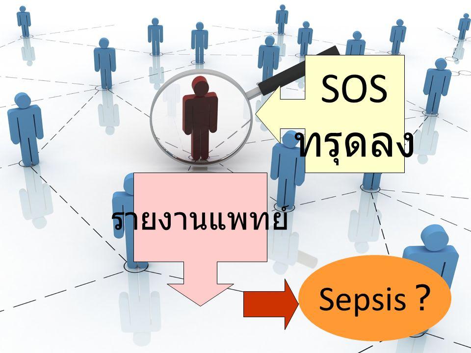 SOS ทรุดลง รายงานแพทย์ Sepsis ?