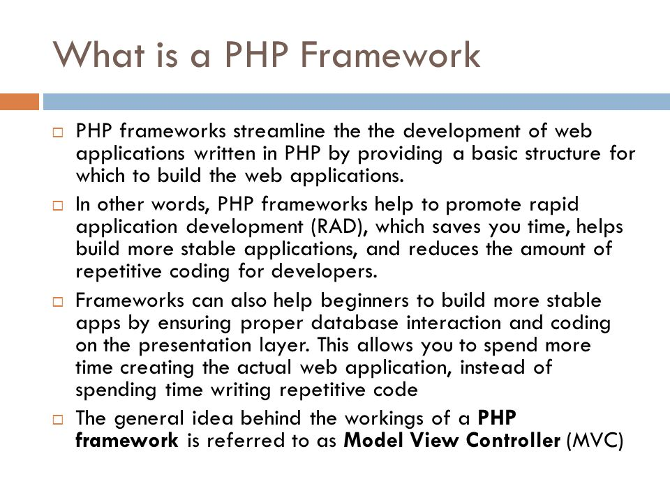Why should we use a PHP Framework  Developers should utilize PHP frameworks for various reasons.