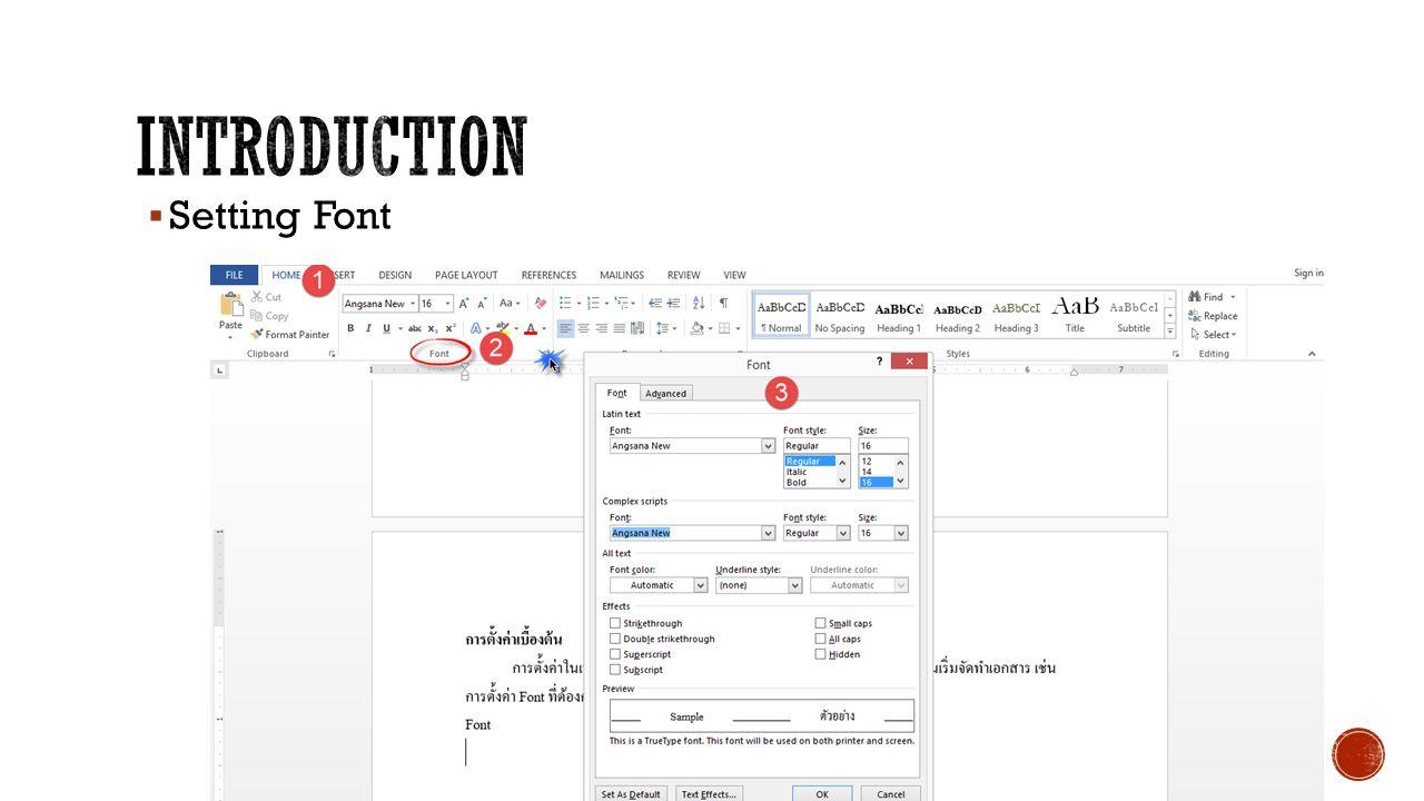  Setting Font