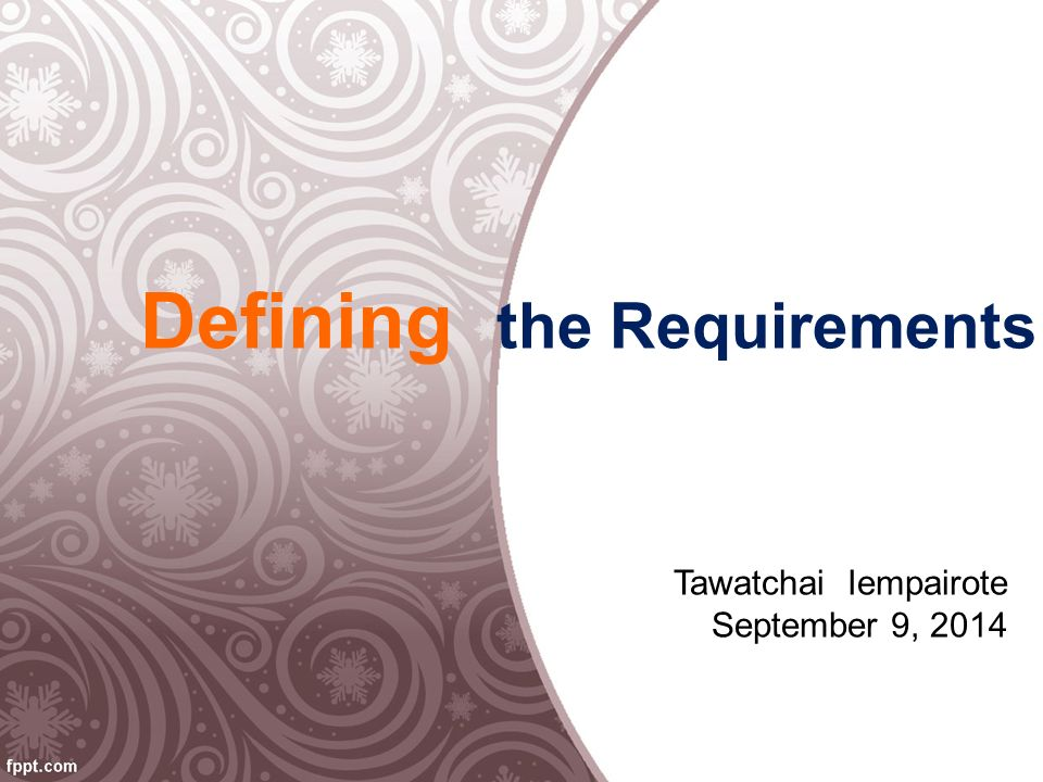 Requirements Elicitation From Aj.Amphol Kongkeaw