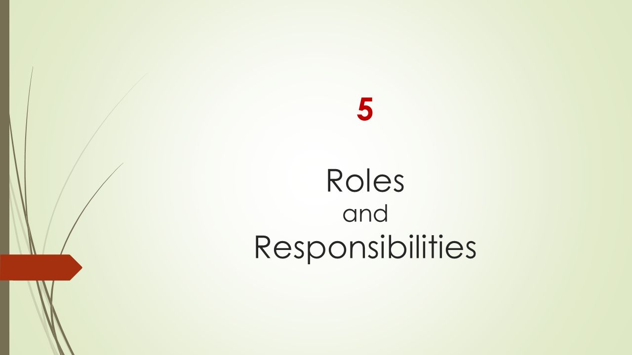 5 Roles and Responsibilities
