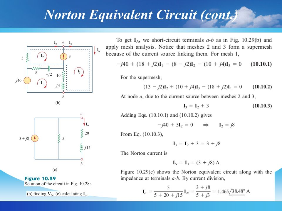 Norton Equivalent Circuit (cont.)