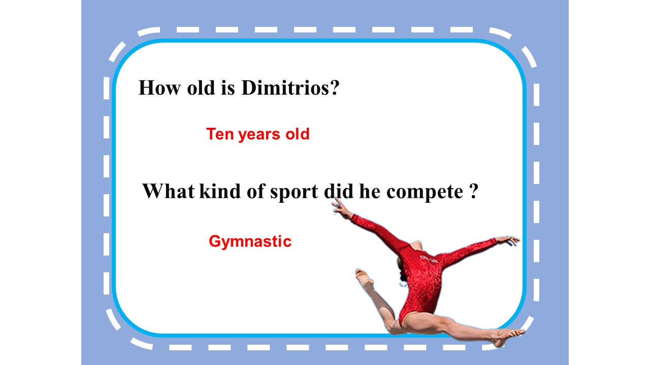1 Who was the youngest person that has competed in Olympic Dimitrios Loundras
