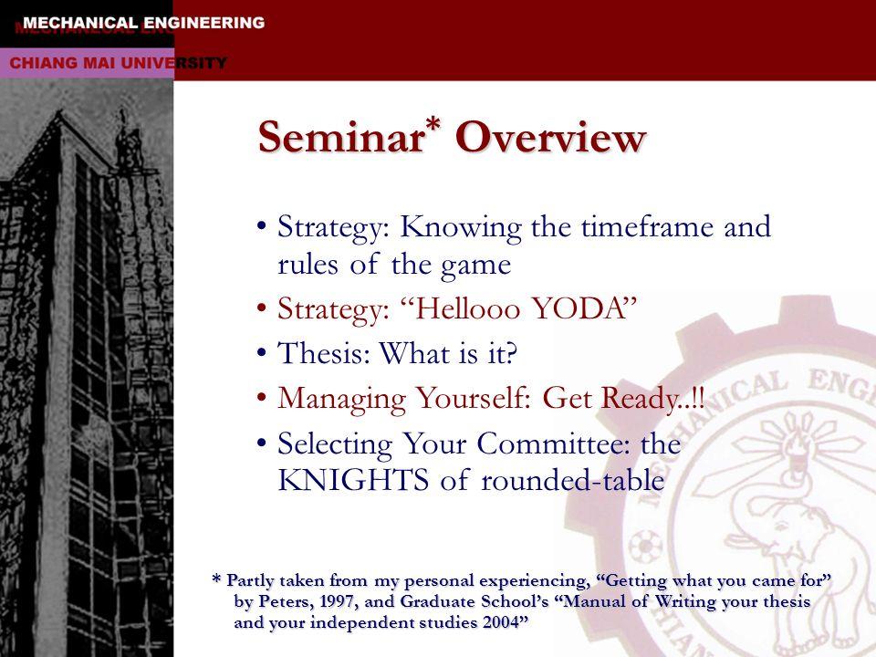 Rules of the GameRules of the Game องค์ประกอบของโครงร่างเพื่อทำ วิทยานิพนธ์และการค้นคว้าอิสระ 1.