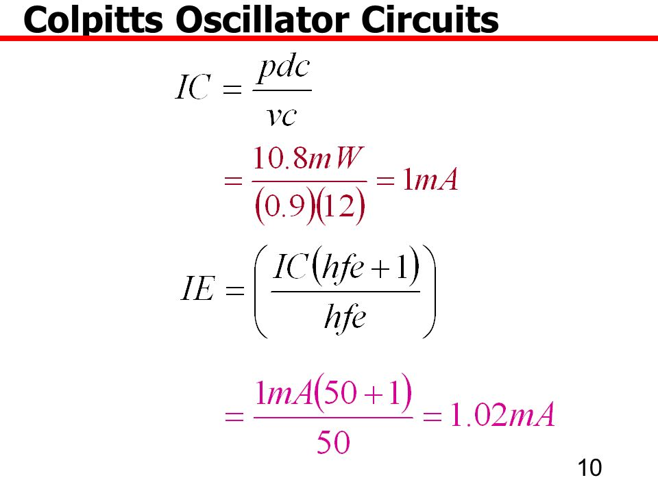 10 Colpitts Oscillator Circuits