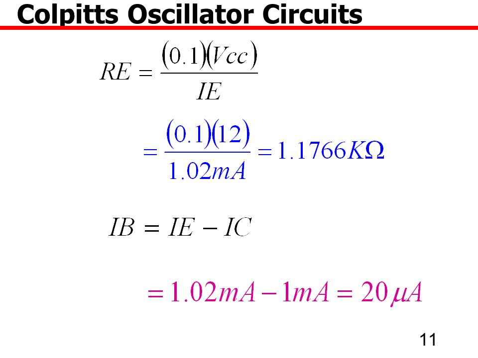 11 Colpitts Oscillator Circuits
