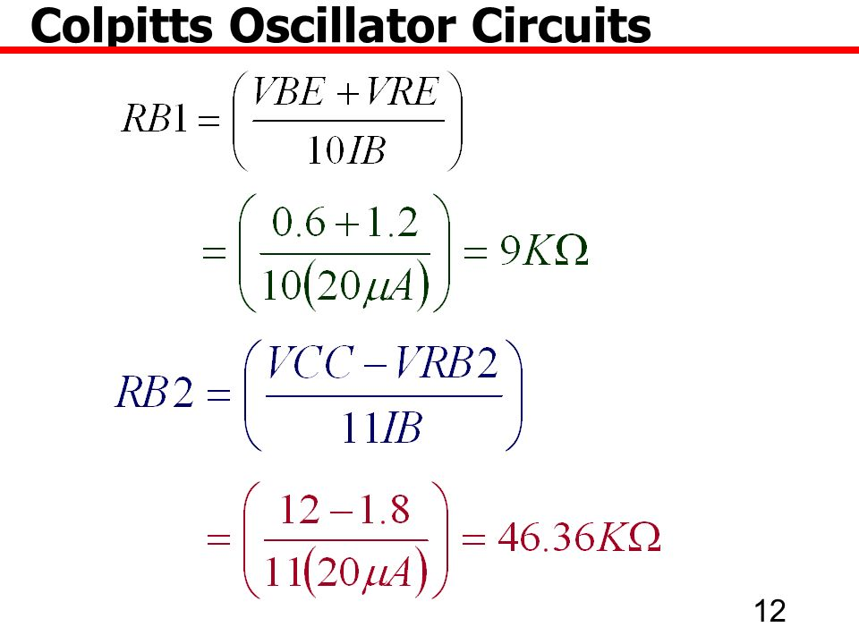 12 Colpitts Oscillator Circuits
