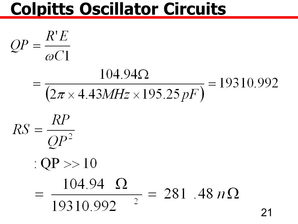 21 Colpitts Oscillator Circuits