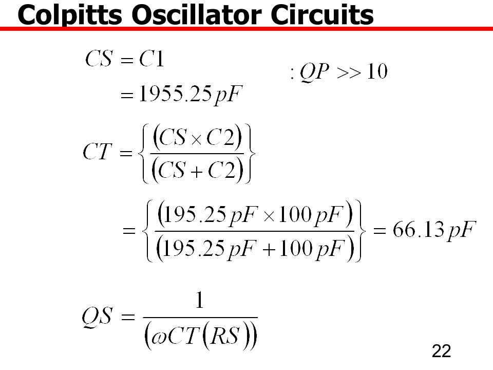 22 Colpitts Oscillator Circuits