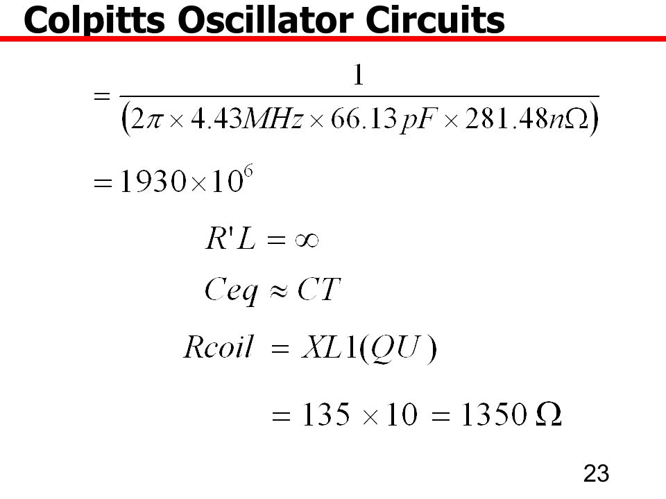 23 Colpitts Oscillator Circuits
