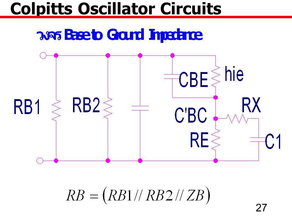 27 Colpitts Oscillator Circuits