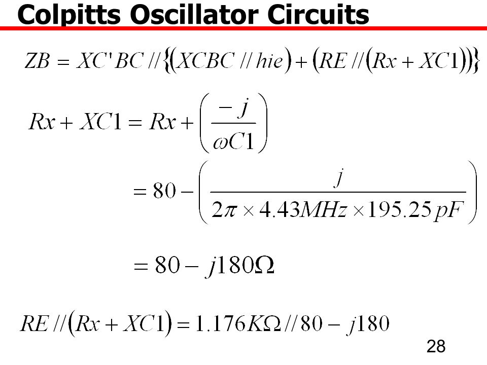28 Colpitts Oscillator Circuits