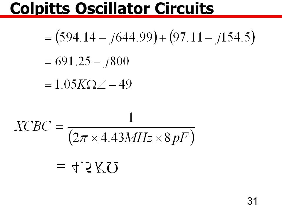 31 Colpitts Oscillator Circuits