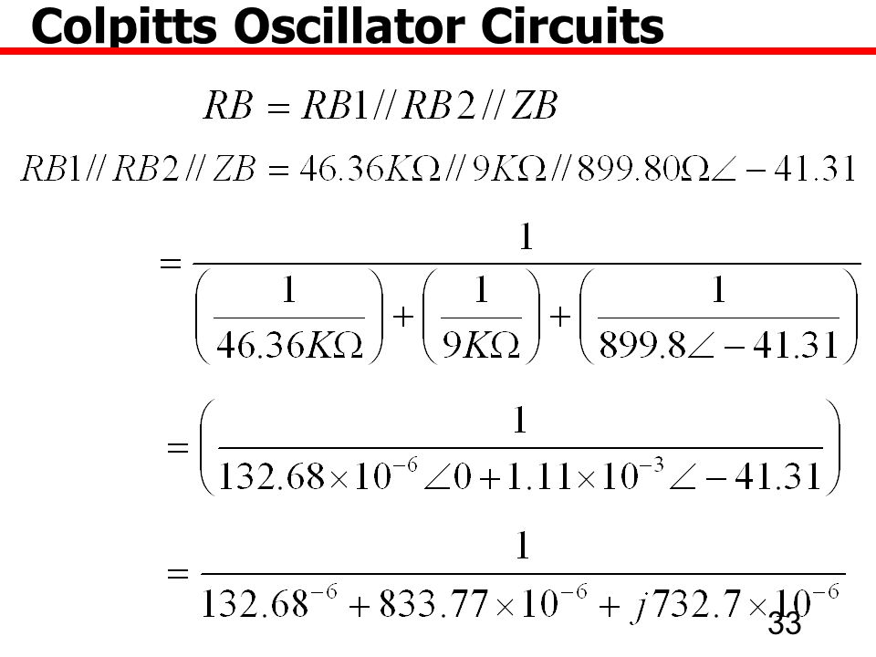 33 Colpitts Oscillator Circuits
