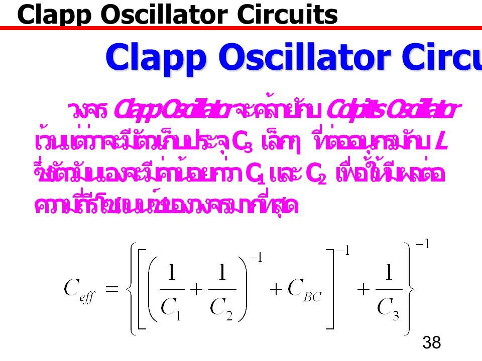 38 Clapp Oscillator Circuits