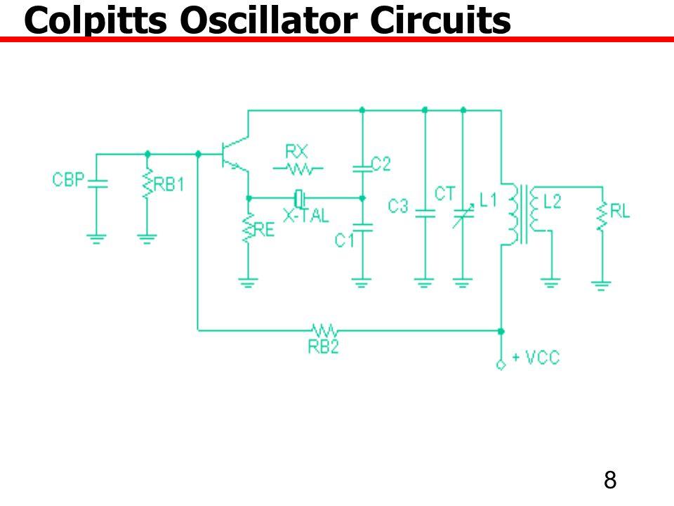 29 Colpitts Oscillator Circuits