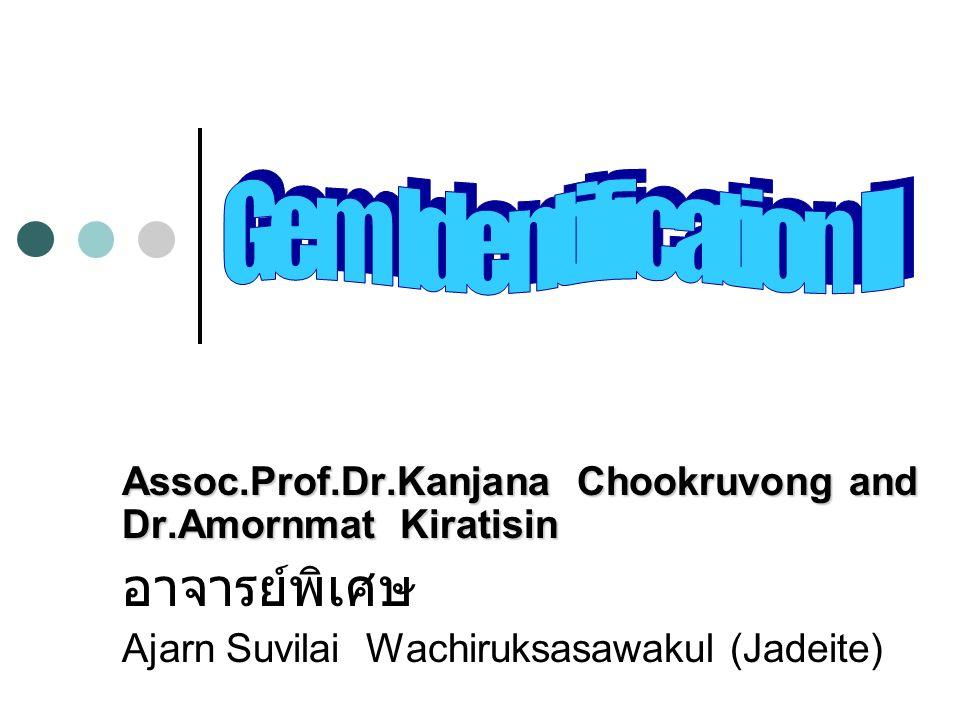 Assoc.Prof.Dr.Kanjana Chookruvong and Dr.Amornmat Kiratisin อาจารย์พิเศษ Ajarn Suvilai Wachiruksasawakul (Jadeite)