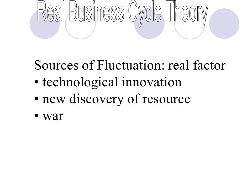 Sources of Fluctuation: real factor technological innovation new discovery of resource war