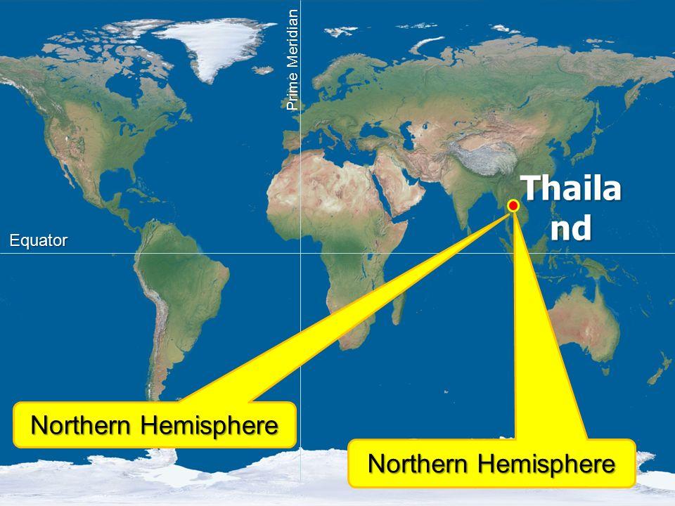 Northern Hemisphere Thaila nd Equator Prime Meridian