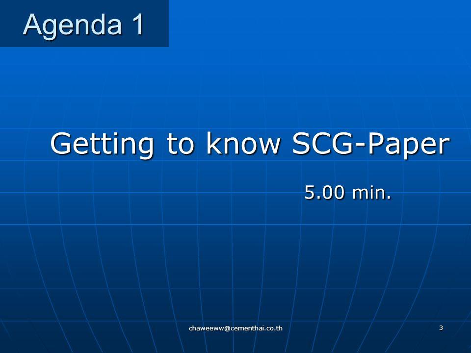 chaweeww@cementhai.co.th 43 Knowledge Management Concept เรียนรู้ / ยกระดับ รวบรวม / จัดเก็บ นำไปปรับใช้ เข้าถึง / ตีความ ความรู้ เด่นชัด Explicit Knowledge ความรู้ ซ่อนเร้น Tacit Knowledge สร้าง / ยกระดับ มีใจ / แบ่งปัน เรียนรู้ร่วมกัน เน้น 2T's Tool & Technology เน้น 2P's Process & People create/leverage care & share access/validate capture & learn store apply/utilize