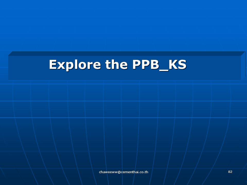 chaweeww@cementhai.co.th 81 Agenda 5 Explore PPB_KS PPB_KSExplore E-learning E-learning