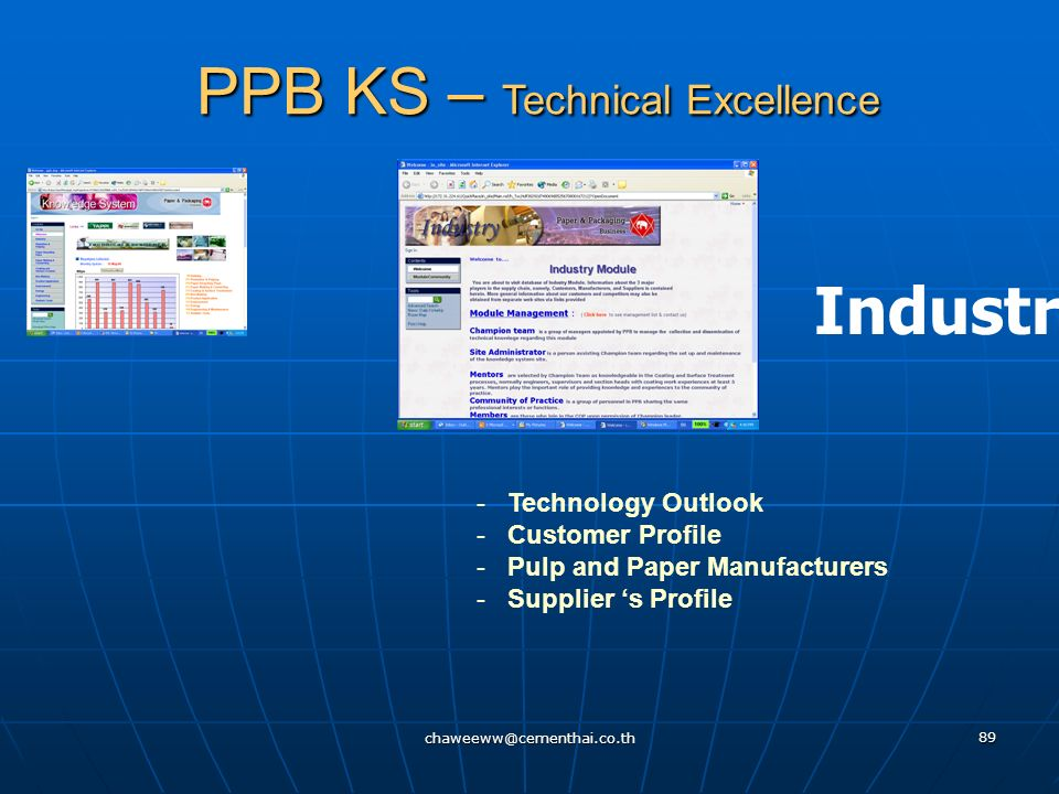 chaweeww@cementhai.co.th 88 PPB KS – Technical Excellence