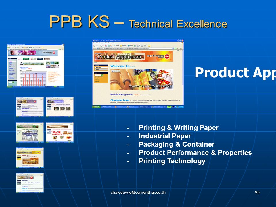 chaweeww@cementhai.co.th 94 Box - Making PPB KS – Technical Excellence - Production Planning - Corrugotor - Converting - Maintenance