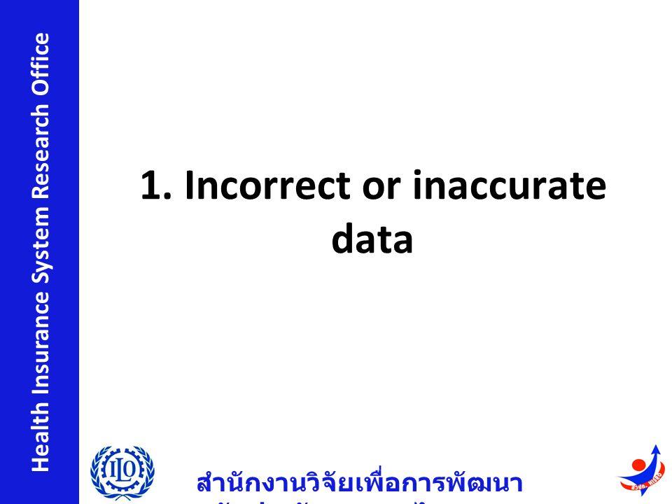 สำนักงานวิจัยเพื่อการพัฒนา หลักประกันสุขภาพไทย Health Insurance System Research Office 1.