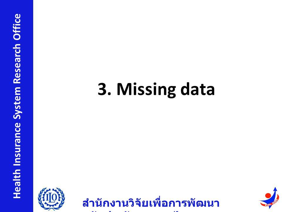 สำนักงานวิจัยเพื่อการพัฒนา หลักประกันสุขภาพไทย Health Insurance System Research Office 3.