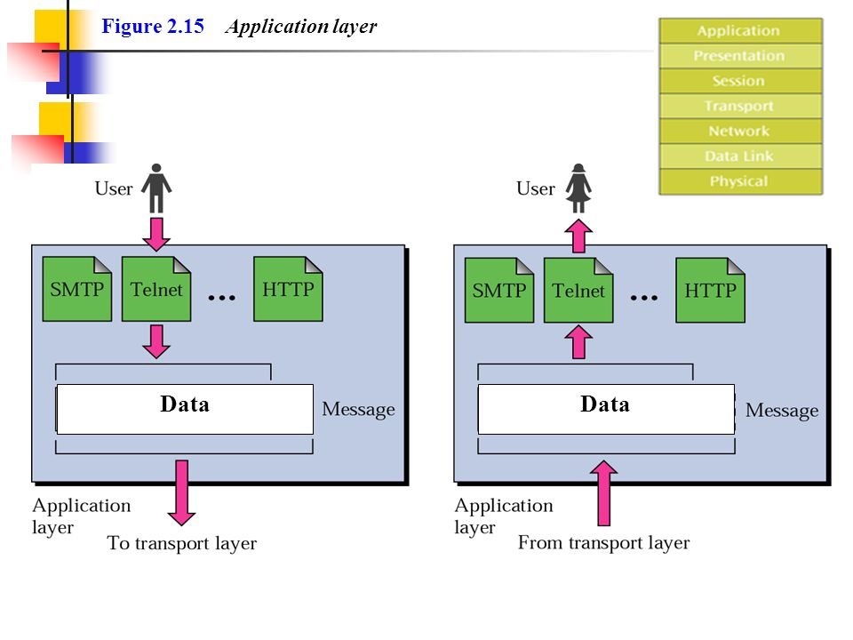 Figure 2.15 Application layer Data