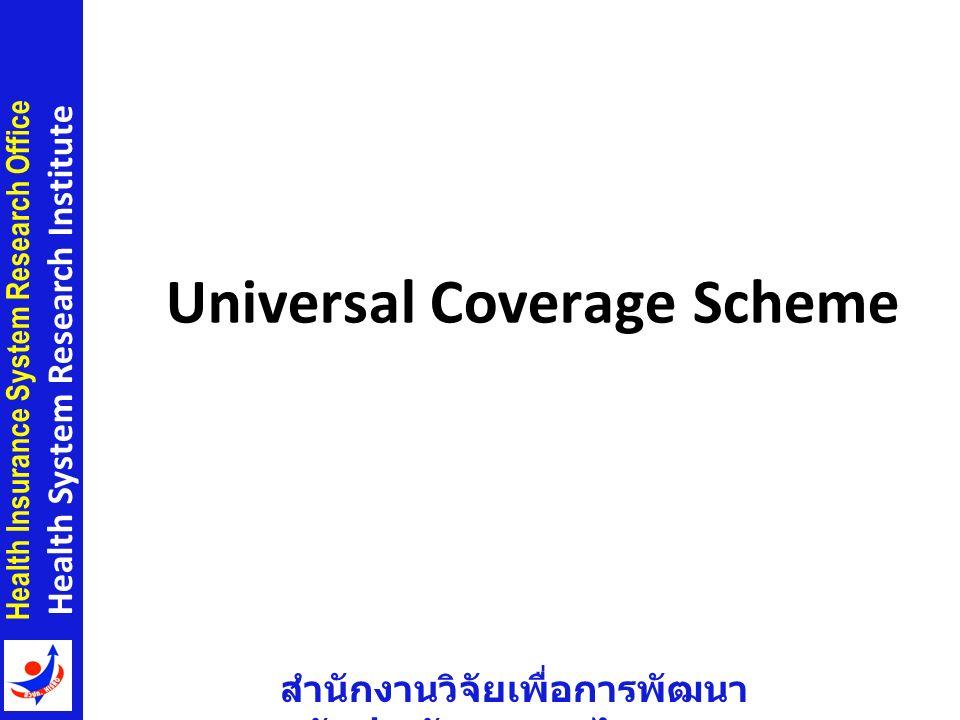 สำนักงานวิจัยเพื่อการพัฒนา หลักประกันสุขภาพไทย Health Insurance System Research Office Health System Research Institute Universal Coverage Scheme 7