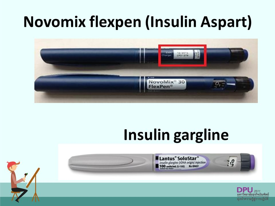 Novomix flexpen (Insulin Aspart) Insulin gargline