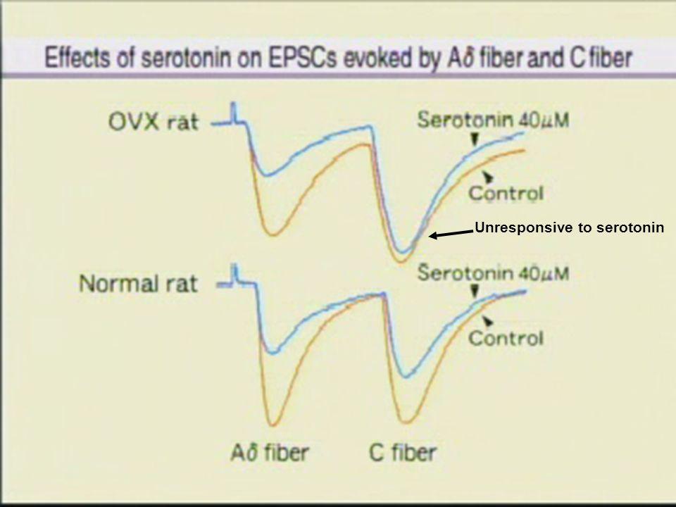 Unresponsive to serotonin