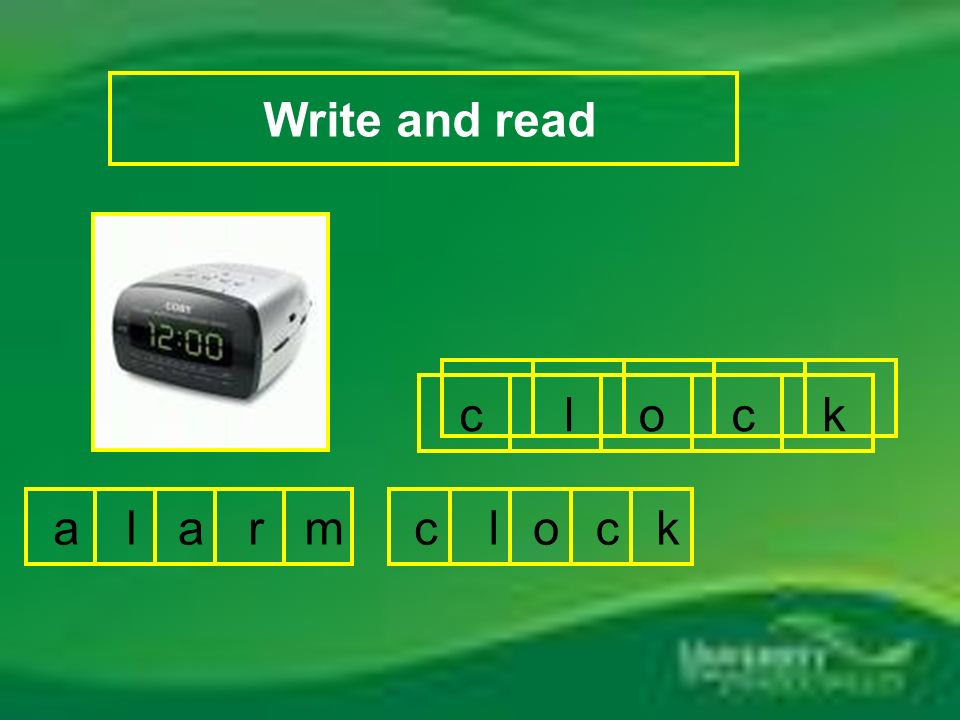 Write and read c l o c k c l o c k r a l a m
