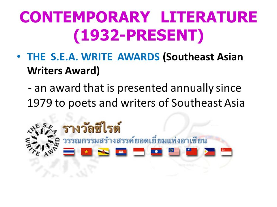 CONTEMPORARY LITERATURE (1932-PRESENT) THE S.E.A.