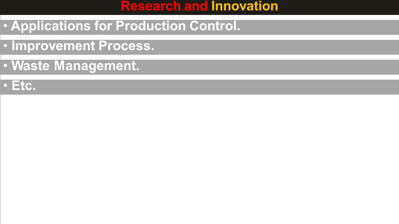 Research and Innovation Applications for Production Control.