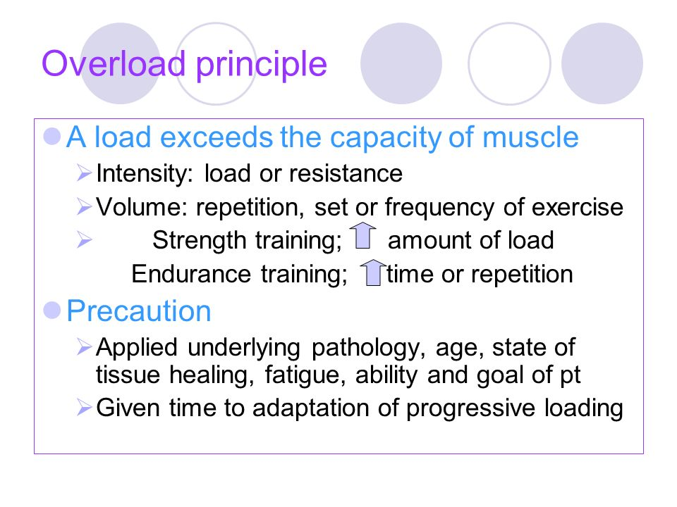 Resistance exercise Any form of active exercise in which dynamic or static muscle contraction is resisted by an outside force applied manually / mechanically Muscle performanc e StrengthPowerEndurance Endurance training (local endurance) Power trainingStrength training Resistance training