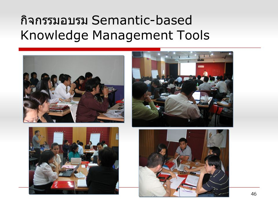 กิจกรรมอบรม Semantic-based Knowledge Management Tools 46