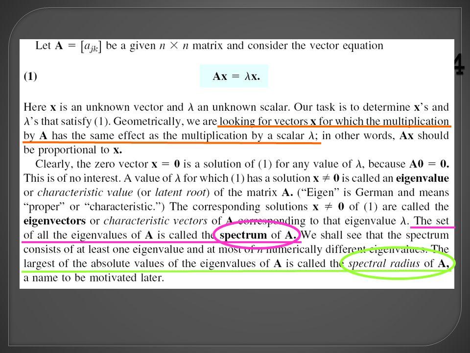  Each eigenvector associated with a particular eigenvalue.