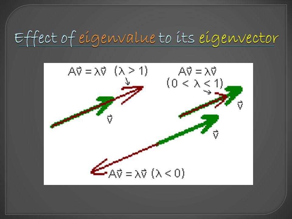 A: square matrix (nxn) n: large - Use eigenvalues & eigenvectors to solve