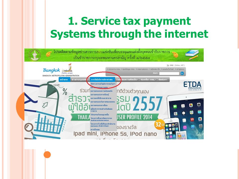 1. Service tax payment Systems through the internet