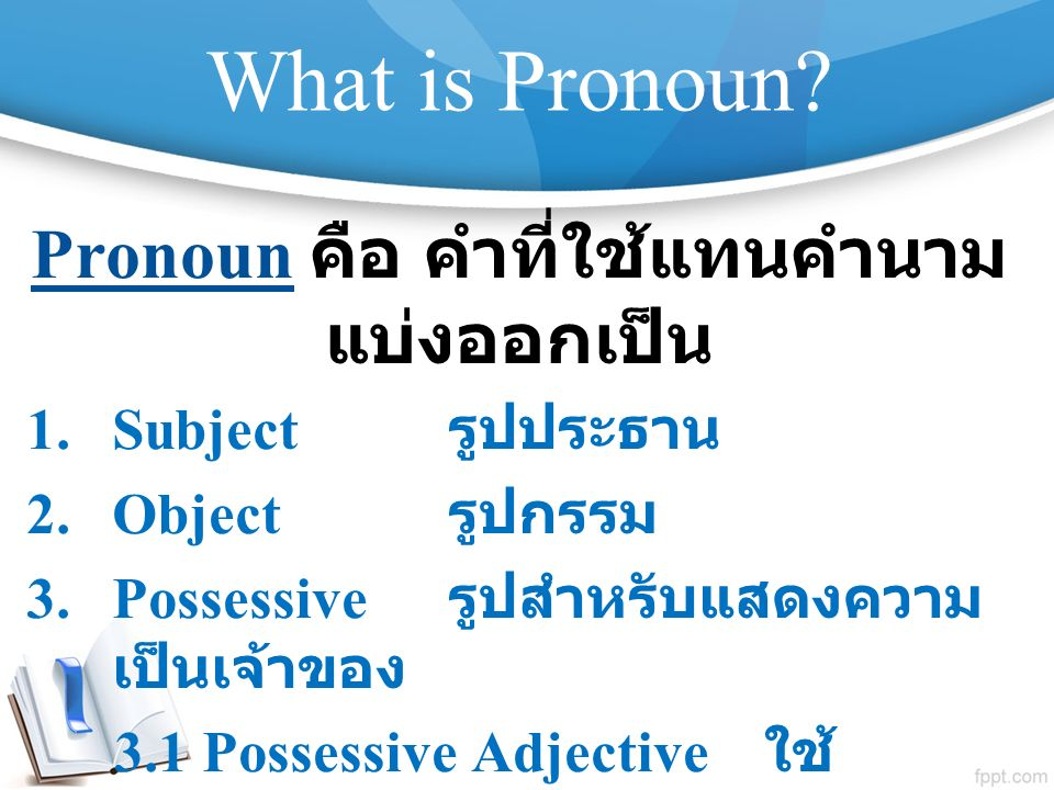 What is Pronoun.