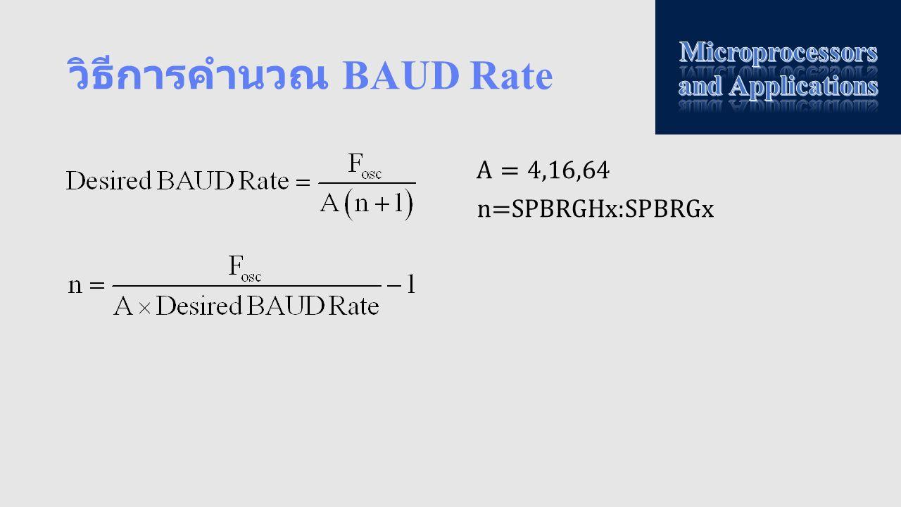 วิธีการคำนวณ BAUD Rate